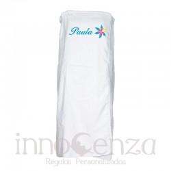 Pareo toalla blanco bordado...