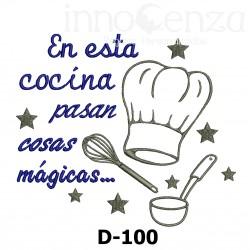 Frase de Cocina -D-100